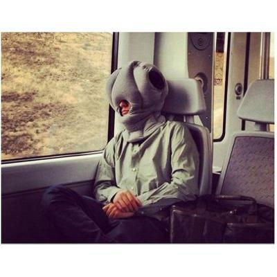神奇鴕鳥枕聖誕節 護頸枕辦公室午睡枕旅行枕車枕頭枕靠枕午休