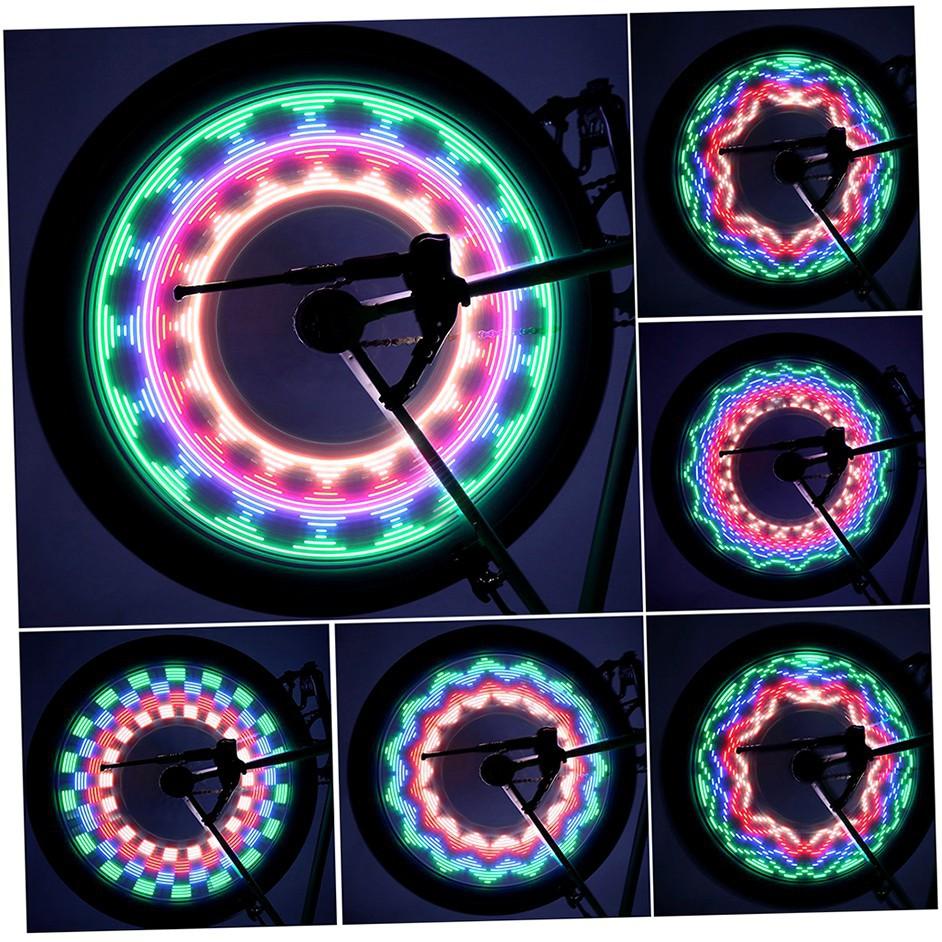 32 色高亮度防水LED 輪框燈自行車鋼絲燈風火輪燈警示燈輪胎燈車輪燈腳踏車單車輪輻燈