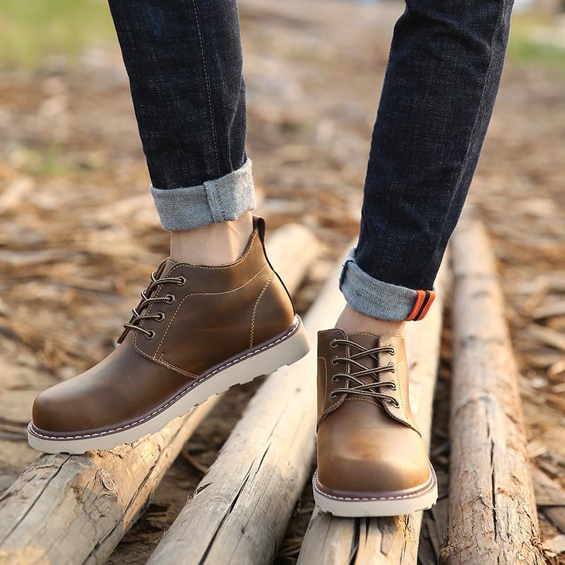 2017 秋 英倫潮流加絨男士馬丁靴復古男靴短靴工裝靴軍靴潮男鞋