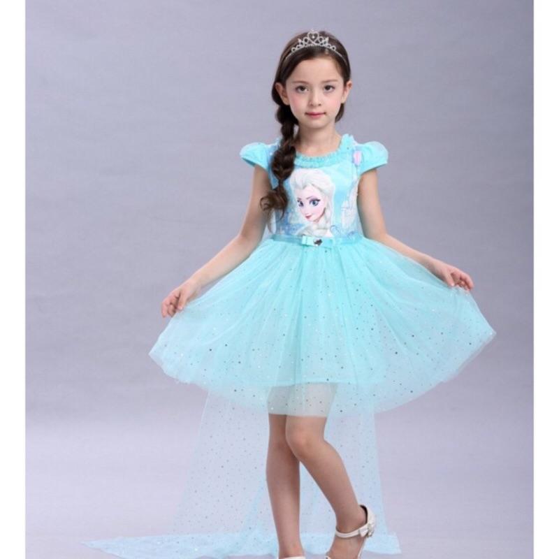 洋裝冰雪奇緣公主裙披肩亮片紗裙連身裙小禮服