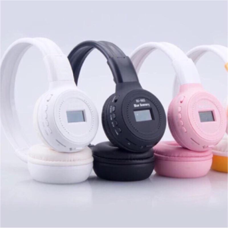插卡藍芽無線耳罩式耳機螢幕閃燈皮革耳罩 聽收音機MP3 播放無線充電電池可更換3 5 插孔