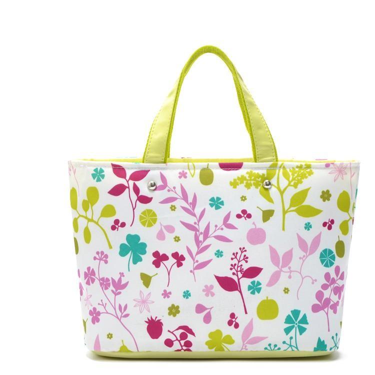象印zojirushi 綠色清新花樣手提袋便當袋便當包保溫包保冷袋保溫袋保冷包