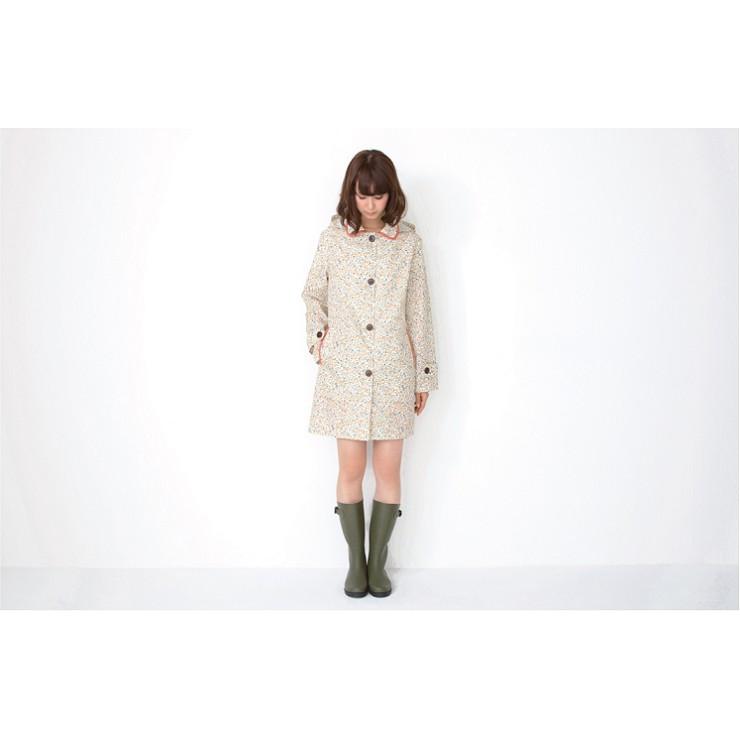~恩祐小舖W P C 日式女款 風衣式雨衣 韓國时尚雨衣超防水透氣雨披小碎花R 1021