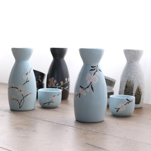 日式和風清酒壺酒杯清酒具套裝陶瓷 釉下彩 酒盅酒器酒瓶