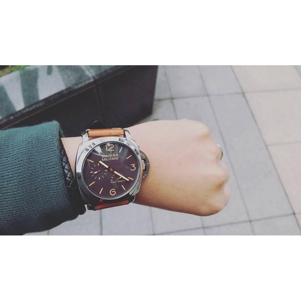 Marina Militare 47MM 大錶徑菸草面自動上鍊機械錶