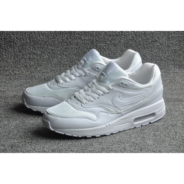 NIKE AIR MAX 1 ESSENTIAL 純白男鞋