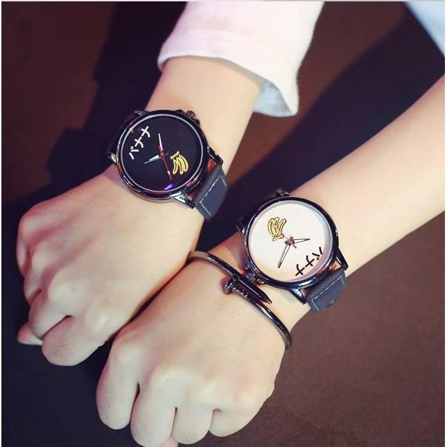 韓國uzzlang 原宿風潮流 簡約可愛學生情侶手錶對錶