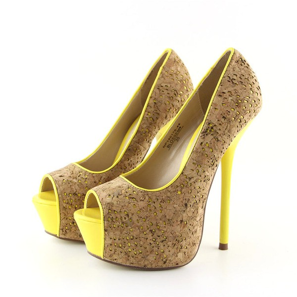 超高跟魚嘴鞋防水台細跟夜店高跟單鞋女14cm 恨天高走秀鞋