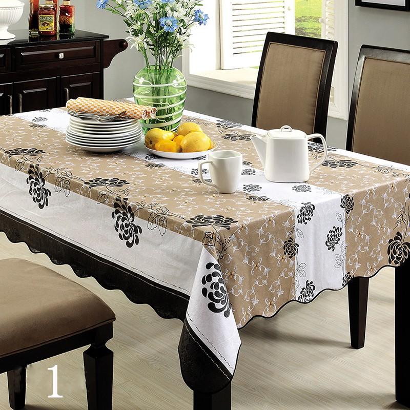 防水桌布PVC 中號餐咖啡桌pvc 防水防油布罩