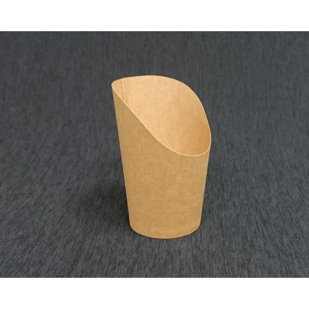 50 入條~12oz 牛皮紙斜口紙杯~牛皮色CKB 紙盒薯條杯薯條盒可麗餅杯聖代杯點心杯冰