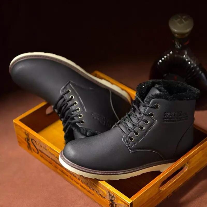 英倫馬丁靴男靴子男士高幫鞋男鞋加絨保暖短靴雪地靴棉鞋