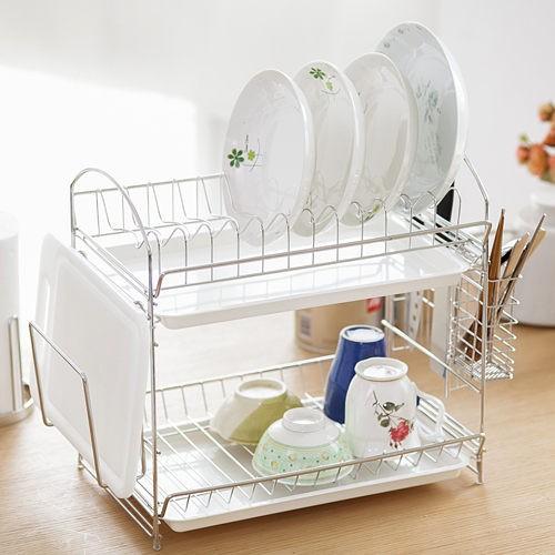 居家 ~整組950 免 ~外銷日韓暢銷款簡約不鏽鋼收納碗盤架瀝水架