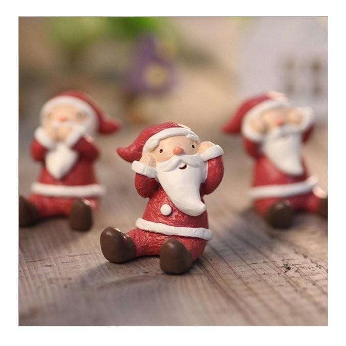 聖誕節耶誕小動物三不小動物聖誕老公公麋鹿大象小狗小貓小兔小猴子小熊擺設裝飾~BWQ 350