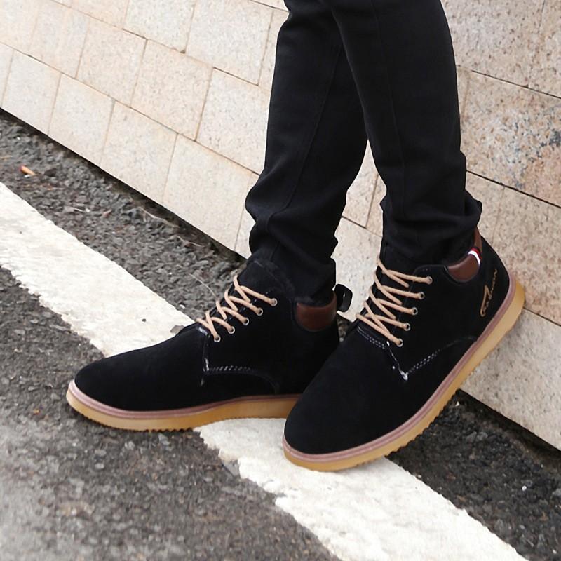 高幫男士棉鞋加絨保暖 潮流磨砂皮鞋子英倫男鞋子一件代發