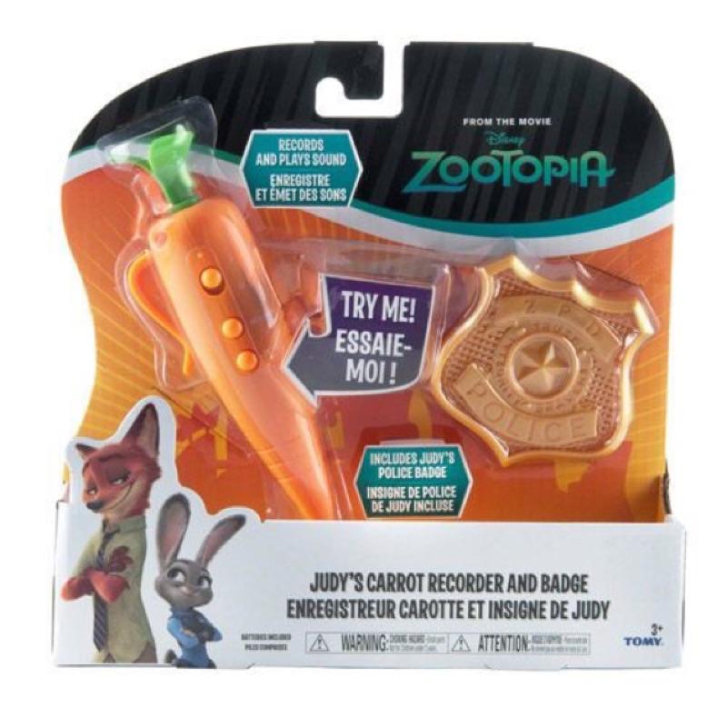 動物方城市茱蒂的警官套裝紅蘿蔔錄音筆zootopia