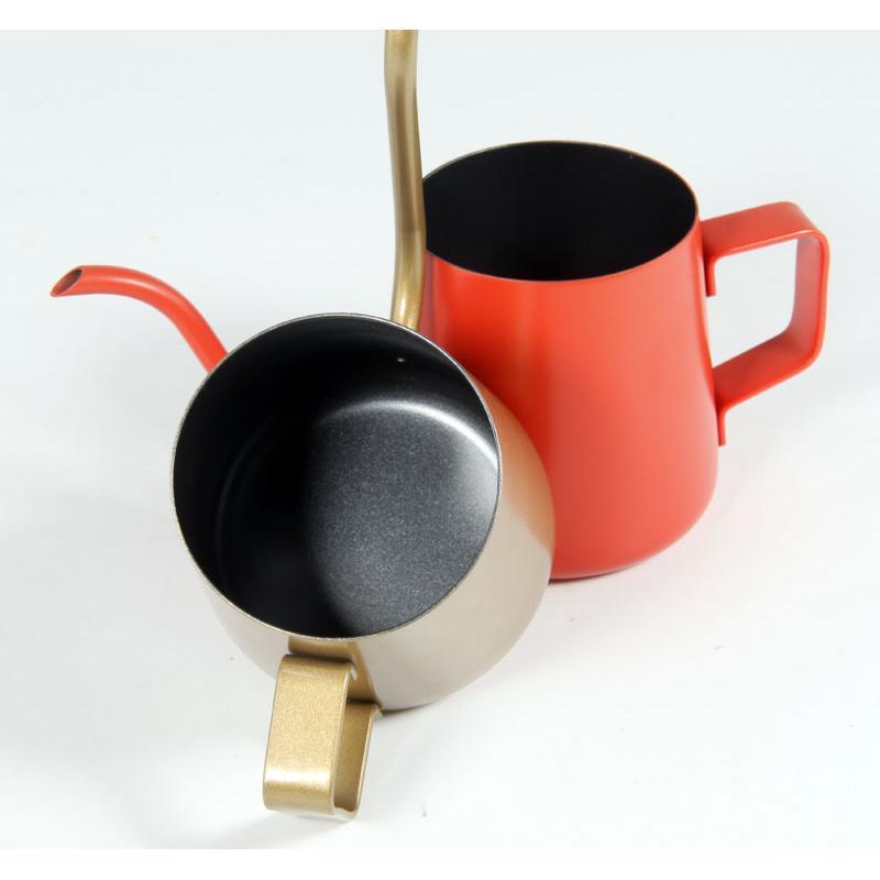 晴天咖啡☼304 不銹鋼鐵氟龍迷你掛耳式濾掛式咖啡手沖壺240ml 掛耳沖壺