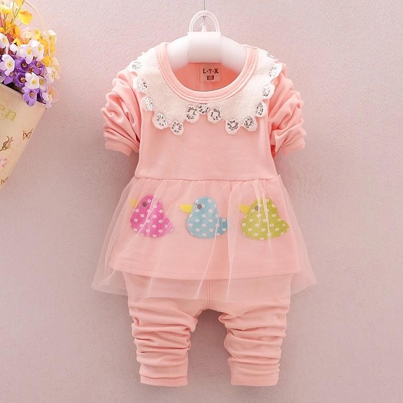 2016 春秋 女童嬰兒 女寶寶小童套裝 衣服秋裝