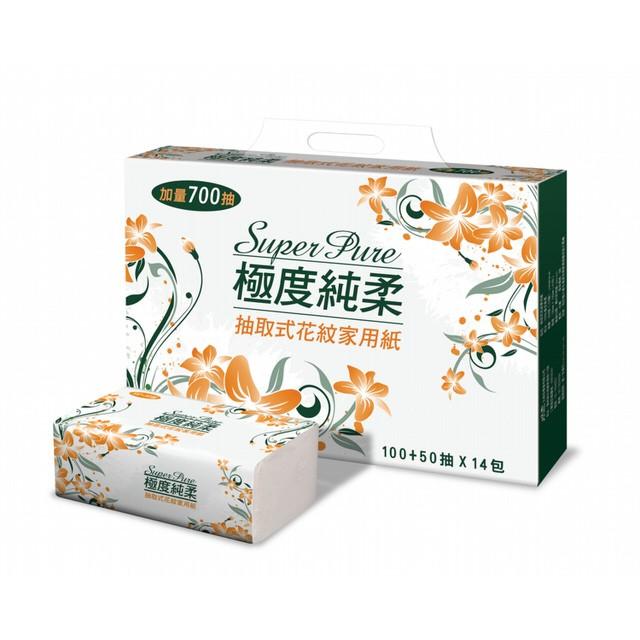 Superpure 極度純柔抽取式衛生紙150 抽84 包面紙餐巾紙紙巾非舒潔倍潔雅優活