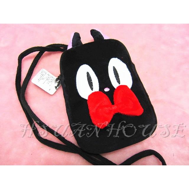 黑貓琪琪雙拉鏈頸繩手機套手機袋收納包相機包