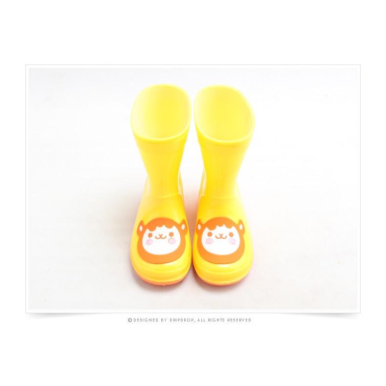 StyleRain 男女寶寶兒童萌萌動物鞋帶短筒雨靴雨鞋