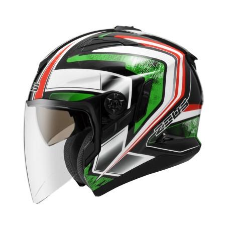 ZEUS ZS 613B 珍珠黑AJ6 綠~ 內藏式遮陽鏡片機構,操作方便、可保持良好視線