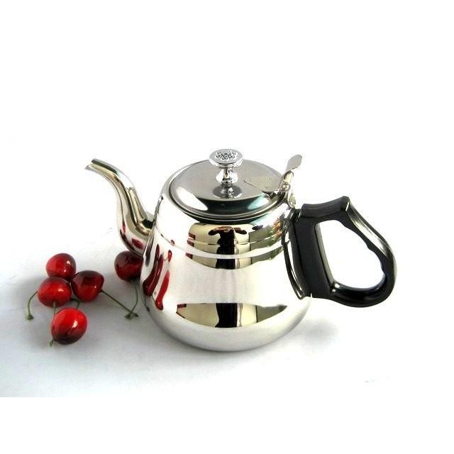 不鏽鋼羅馬壺1000CC 養生茶壺泡茶壺花茶壺咖啡壺沖茶壺開水壺 :不鏽鋼 容量:1000