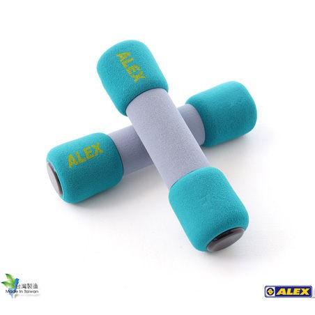 ALEX 韻律啞鈴藍綠色5LB 2 2KG 對C 0705