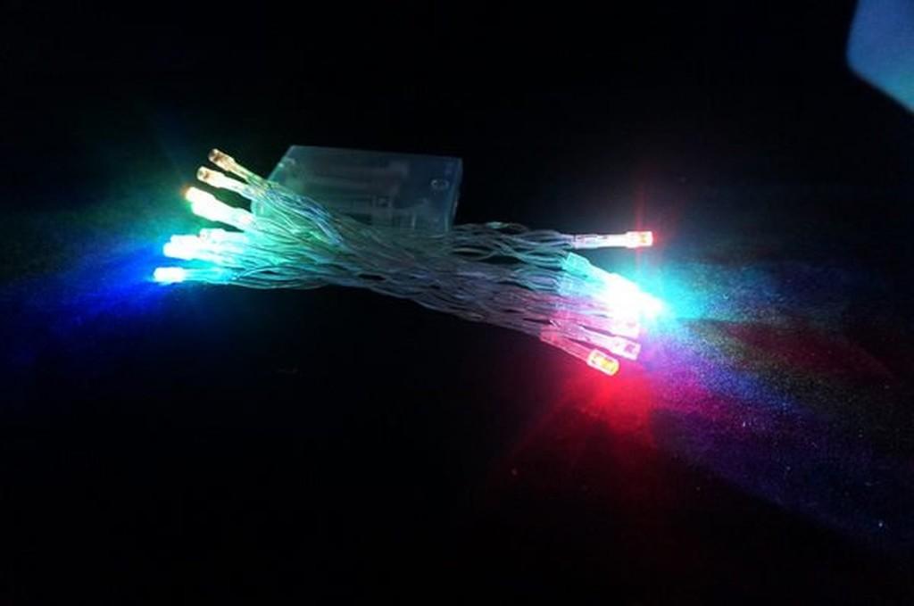 發光派對屋西門中華店LED20 顆燈電池燈串七彩250CM