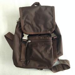包包7 成新防水尼龍布抽繩水桶雙肩包後背包咖啡