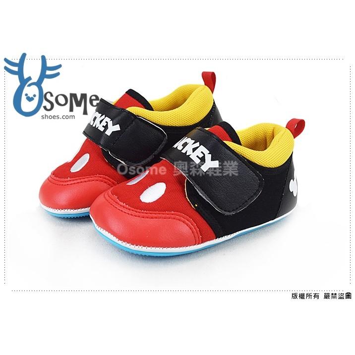 迪士尼學步鞋 可愛米奇口袋 寶寶鞋E3170 紅色OSOME 奧森童鞋小朋友