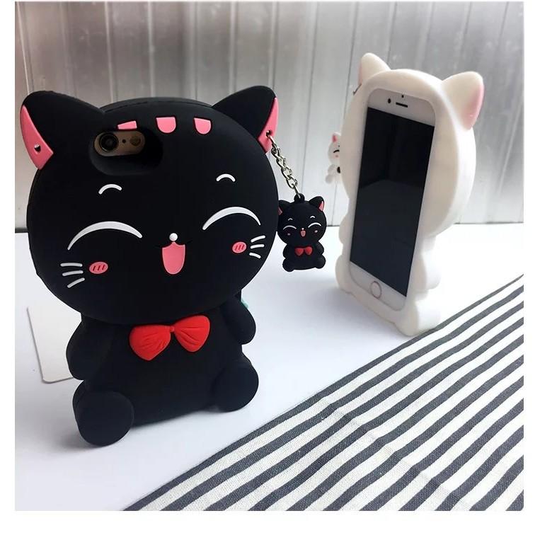 卡通手機殼招財貓iPhone6 6P 7 7P 5 VIVO X7 X7P 保護殼OPPO