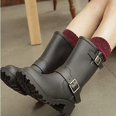 杉杉小舖ViVi  西部牛仔雨靴雨鞋水鞋韓風蕭亞軒款機車靴防水工程靴短靴馬丁靴子水鞋防水防
