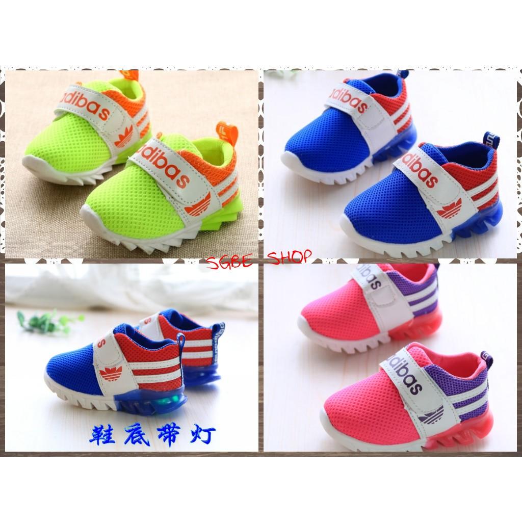 每周二統一下單 價❤️ 小童網面軟底帶燈寶寶透氣單鞋防滑 鞋