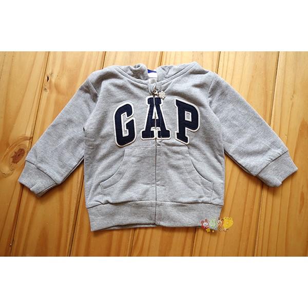 6122 品牌GAP 雙層棉質灰色連帽外套18M 4T 寶寶小童款