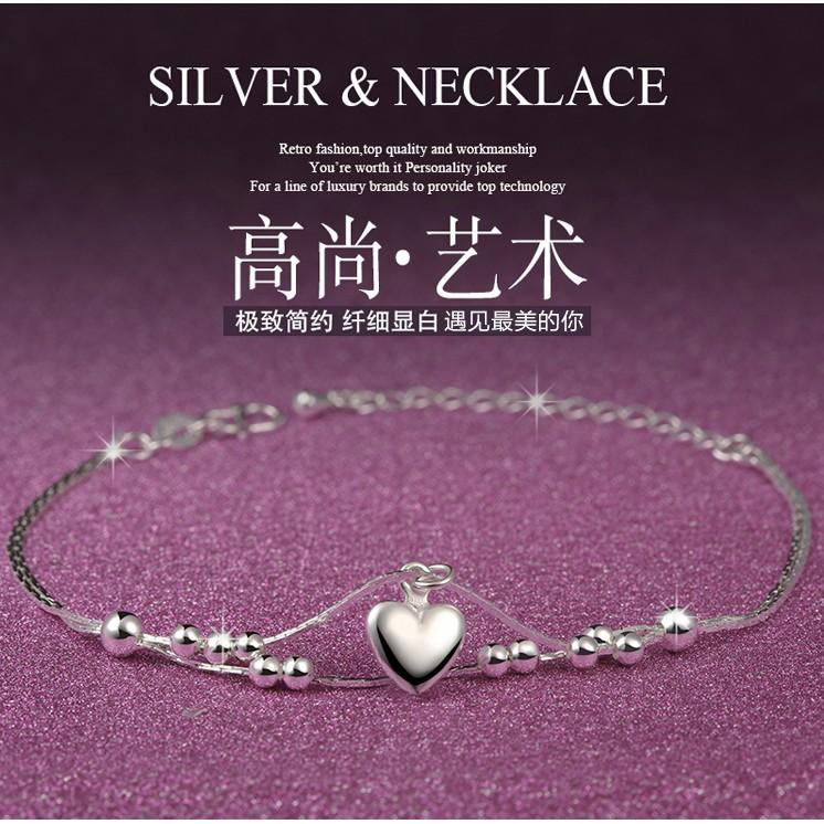 日韓甜美飾品S925 純銀手鍊女簡約百搭生日 學生 女手鍊銀