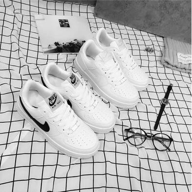 耐克NIKE 鞋黑白基礎款ulzzang 平底休閒鞋男鞋女鞋情侶鞋潮小白鞋耐克NIKE 耐