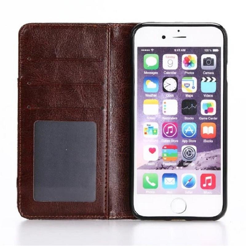 Apple IPhone7 Plus 牛仔布丹尼布隱藏磁吸暗磁扣手機殼皮套保護套保護殼側翻