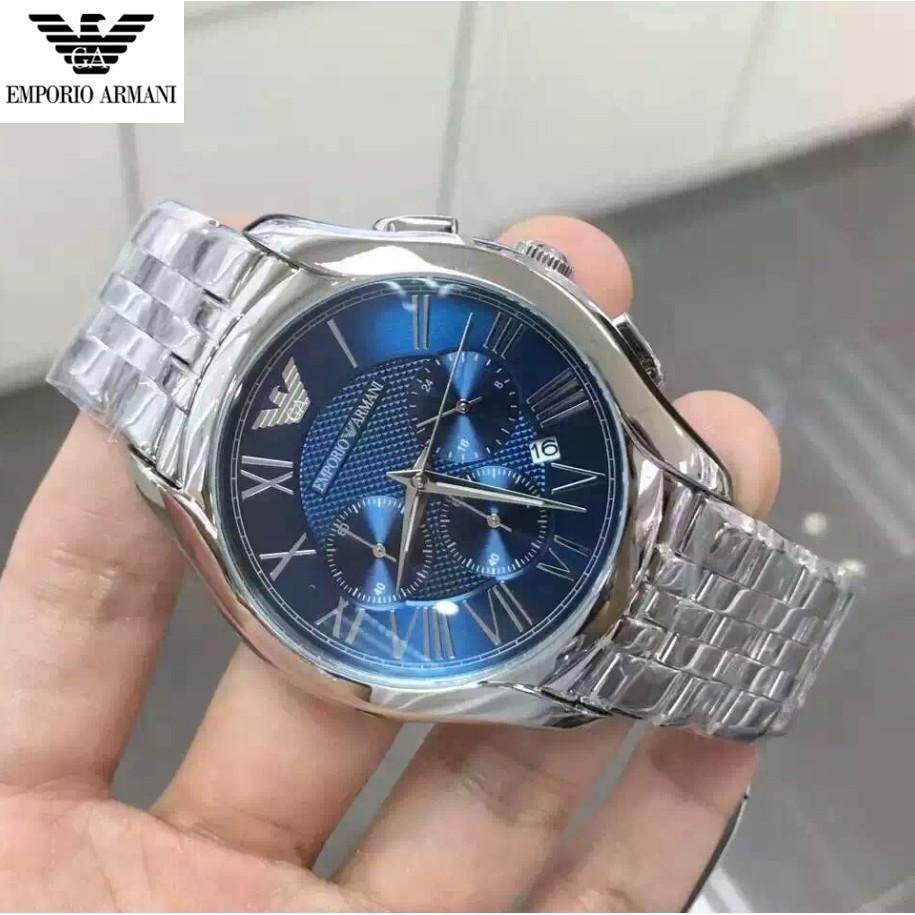 正品Armani 阿瑪尼鋼帶石英男錶三眼計時手錶男防水日曆男士腕錶AR1787