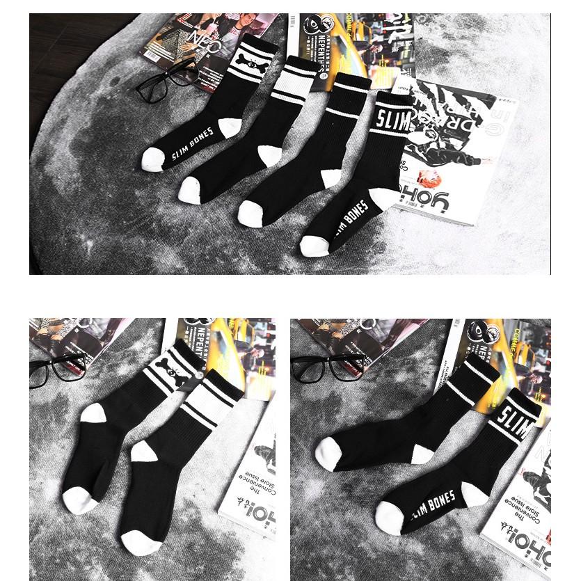 毛巾底不撞襪骨頭眼睛字母毛巾底 款黑長襪黑襪長襪男襪女襪 襪滑板襪黑色長襪潮流襪潮襪
