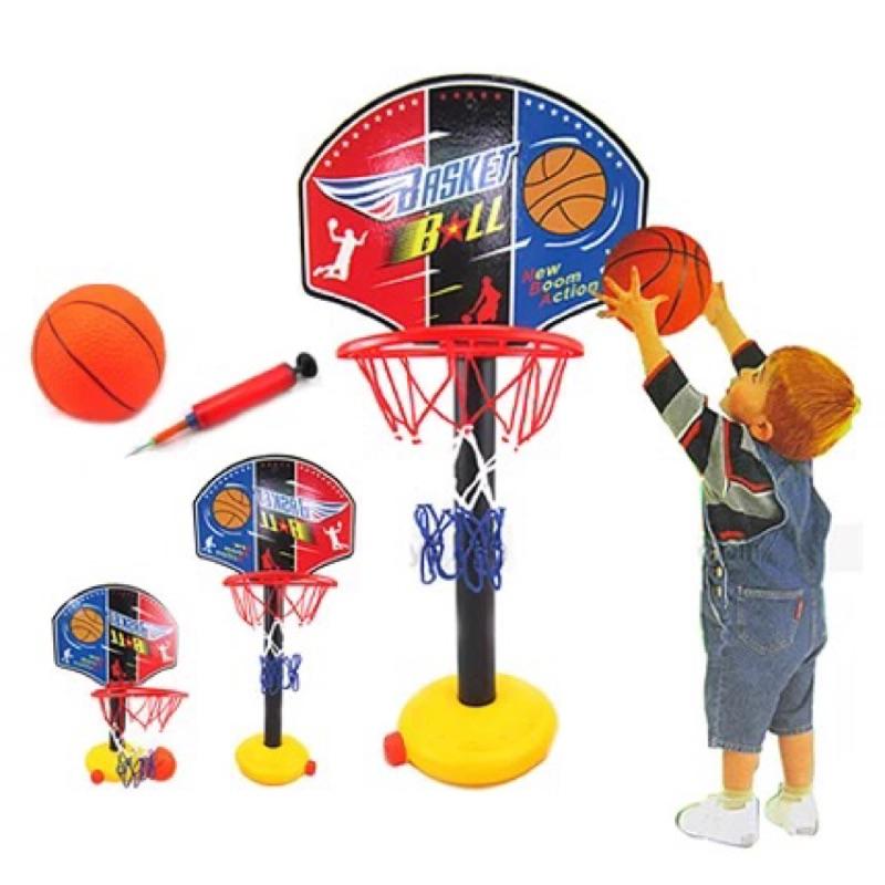 戶外室內 鐵桿籃球框投籃架兒童可升降寶寶大號籃球架子玩具