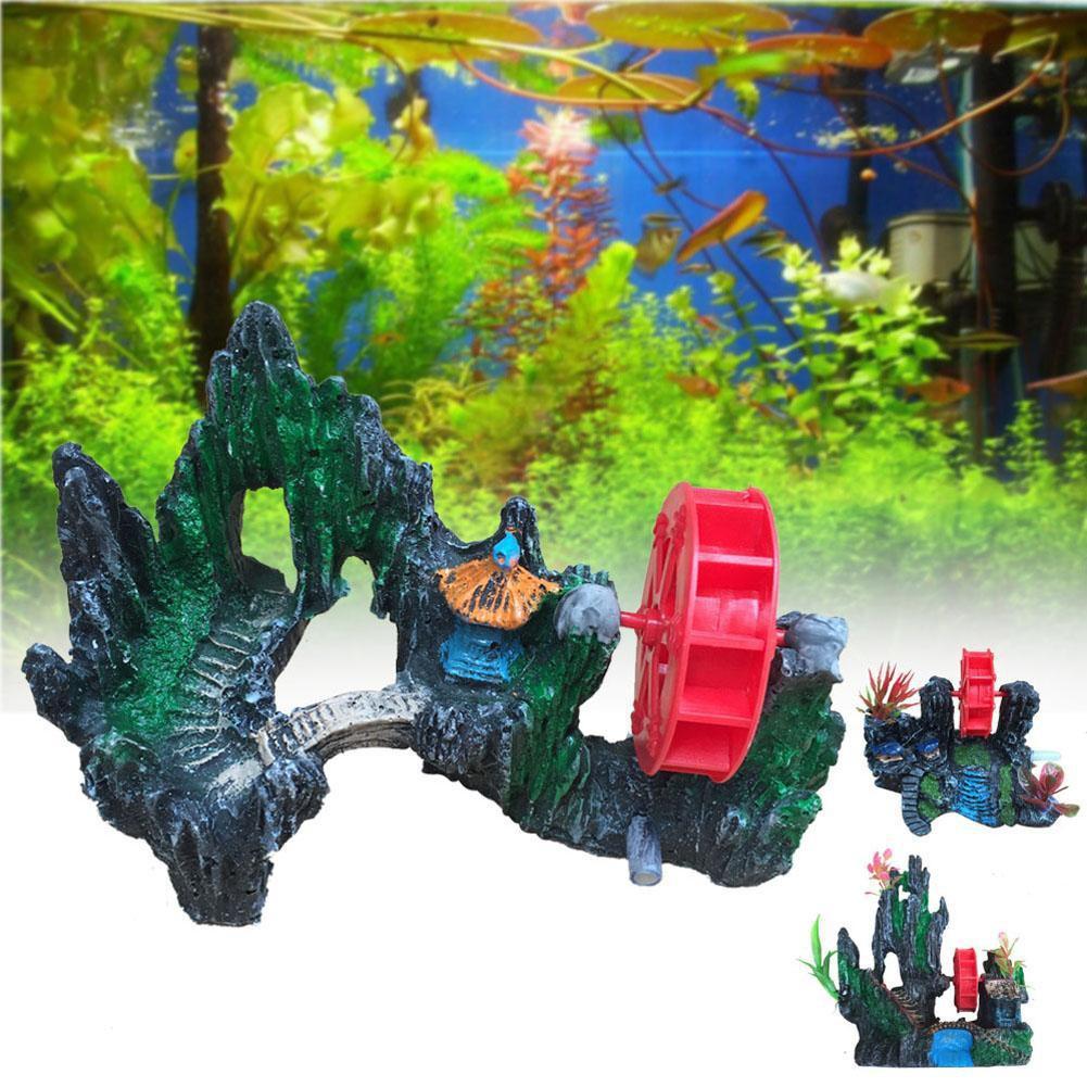 水族裝飾品山景假山石洞風車魚缸裝飾C3