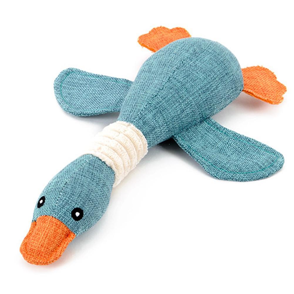 大雁發聲玩具狗狗玩具寵物發聲玩具毛絨玩具磨牙訓練寵物益智玩具顏色 )
