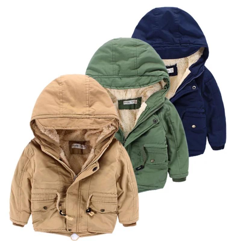 兒童加絨保暖風衣外套