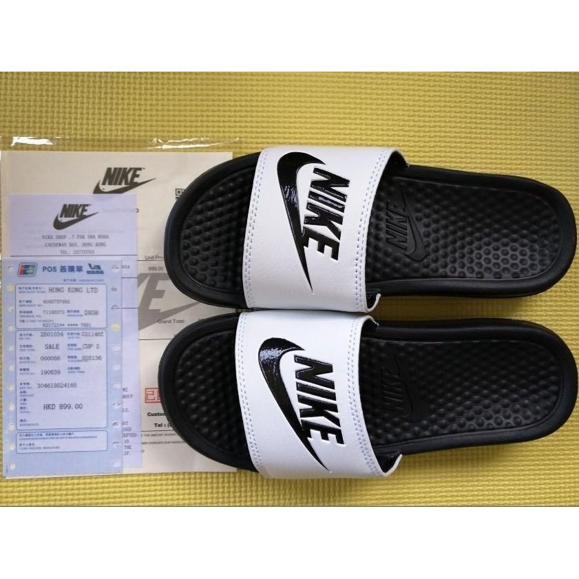 系列 兩樣起免 , 350 一雙! Nike Benassi Swoosh 黑白拖鞋
