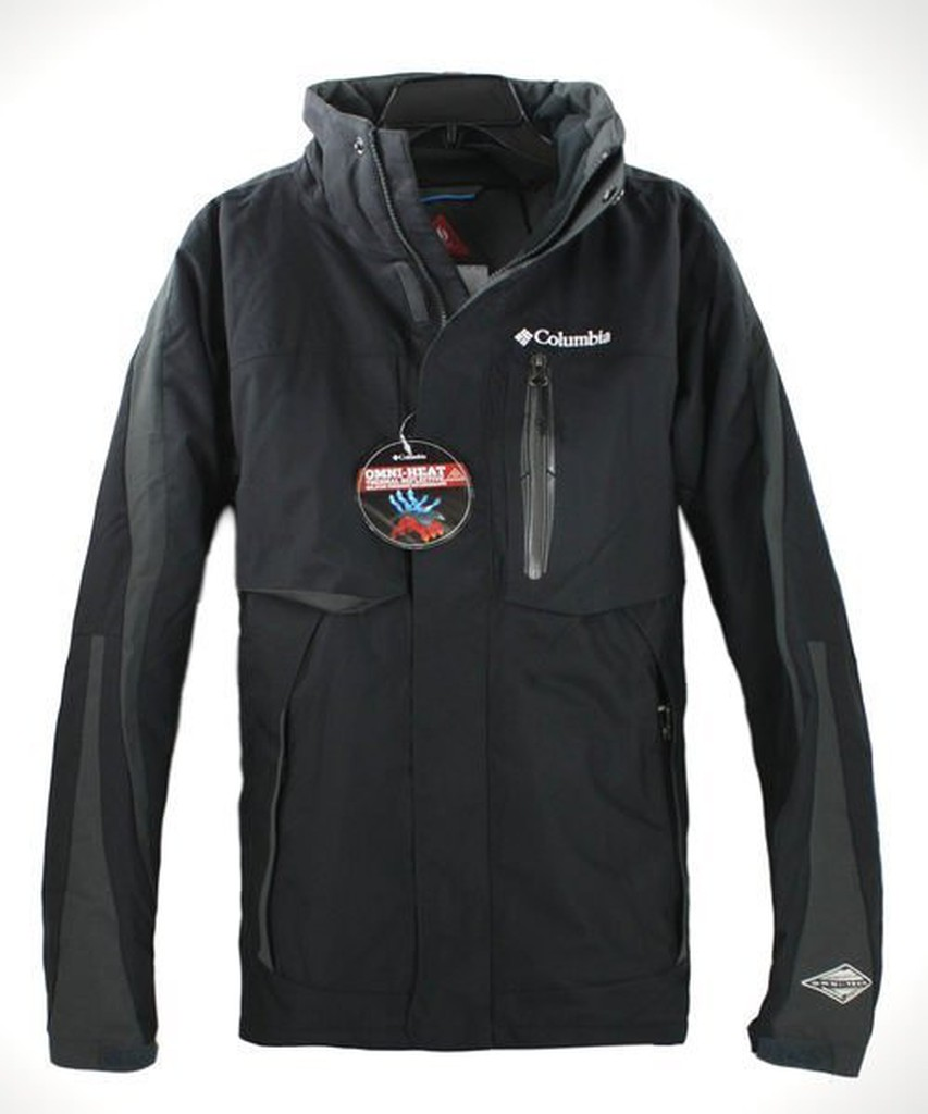 美國百分百【全新真品】Columbia 哥倫比亞 男黑 連帽外套 發熱衣 保暖夾克 防水防風 免運 S