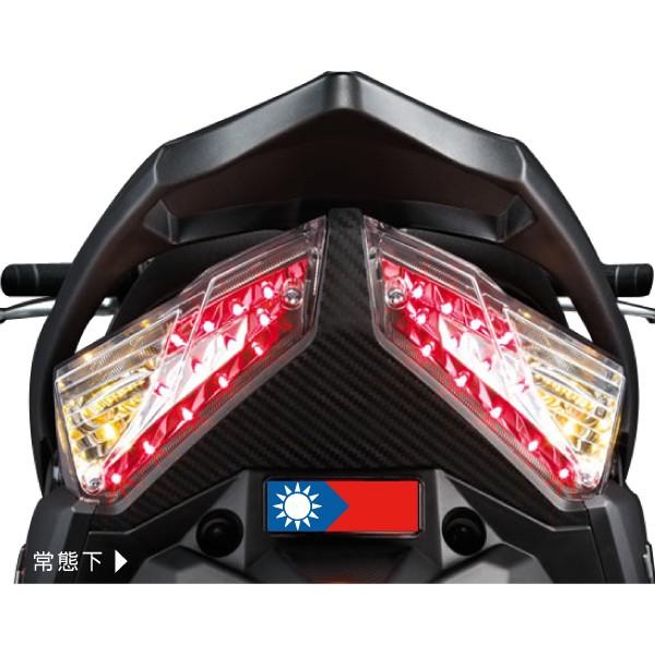 國旗TAIWAN 方形反光片反光貼不分車系 8 4 2 8 公分防水耐曬騎乘酷炫安全反光屋