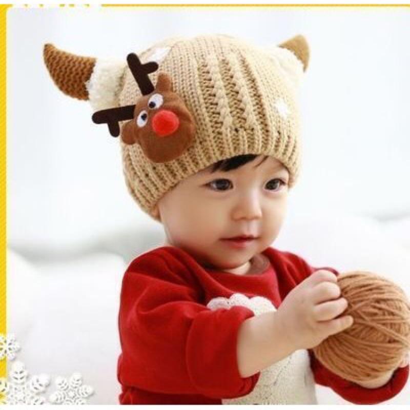 ~24H 出貨~內裏鋪毛 男寶寶女寶寶嬰兒帽兒童女童男童毛帽加厚帽子毛線帽