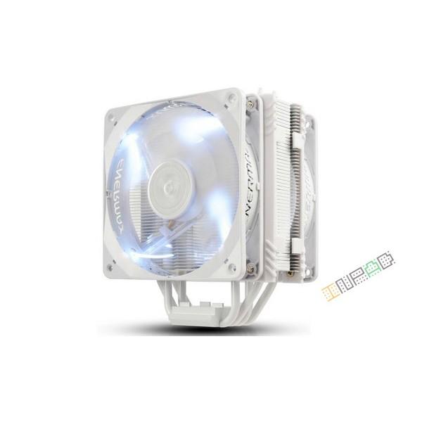 雙風扇安耐美保銳Enermax 白蝠版白燈CPU 散熱器ETS T40Fit W 4P