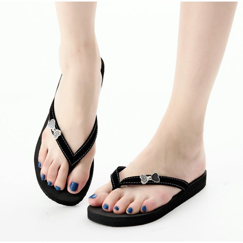 夾腳拖簡約蝴蝶黑色夾腳拖鞋