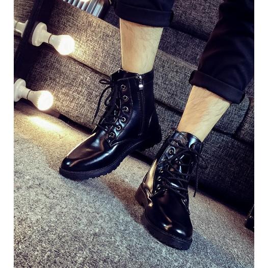 透氣男靴英倫馬丁靴男皮靴子軍靴男士休閒短靴內增高男鞋潮